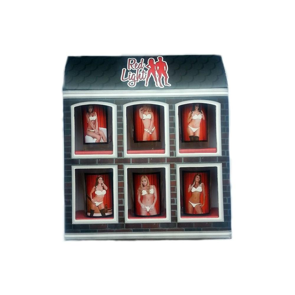 Sada svlékacích panáků 6 ks - Red Light - ženy