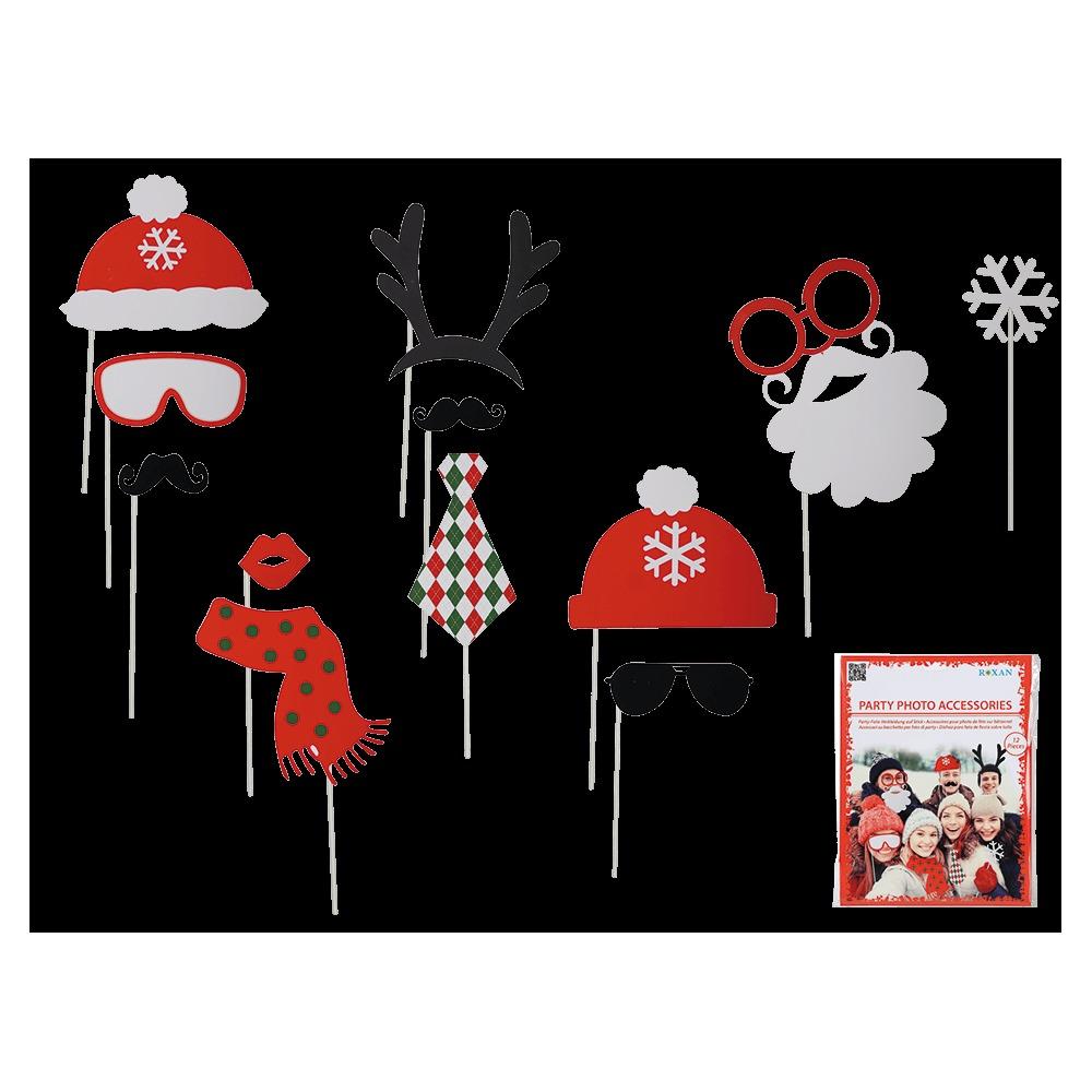 Párty foto doplňky 12 ks - Vánoční edice