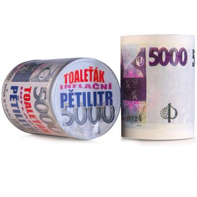 Toaletní papír - pětitisícovka 5000 Kč