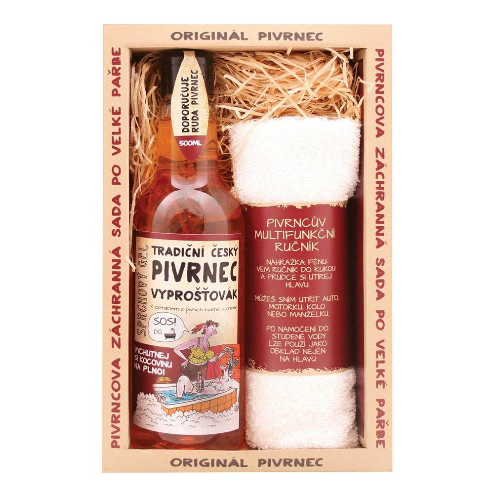 Kosmetický balíček Pivrnec po pařbě (hadr)
