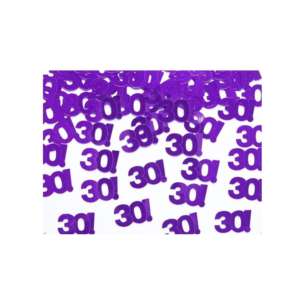 Narozeninové konfety - 30 - fialové