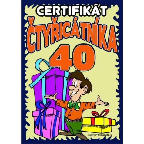 Certifikát čtyřicátníka