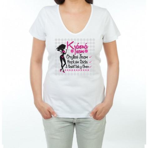 Tričko dámské - Krásná jsem  f311119b2c