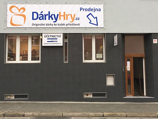 Prodejna DárkyHry.cz Brno